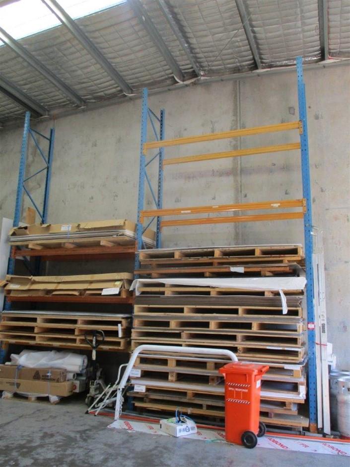 2x Bays of Steel Pallet Racking