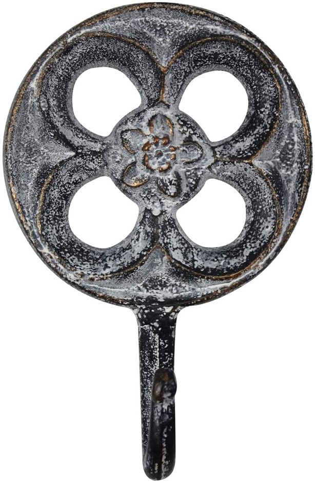 DARLIN Cast Iron Moroccan Hook, Blue/Gold. (SN:B07RYWJMW2) (281524-592)