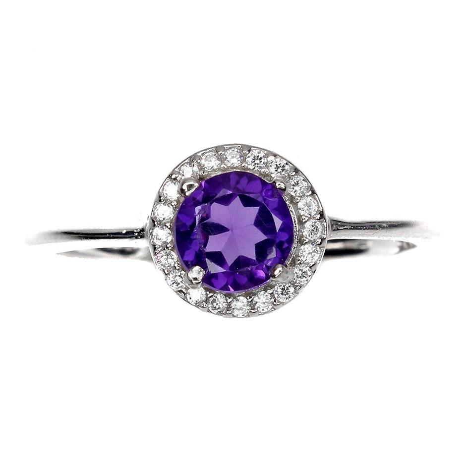 Glorious Genuine Amethyst Ring