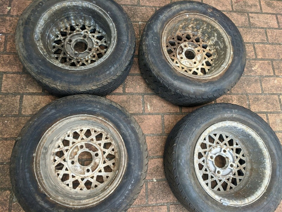 "4 X Torana 13"" Hotwire Rims + SF-340 Eager Tyres 205/60 R13"