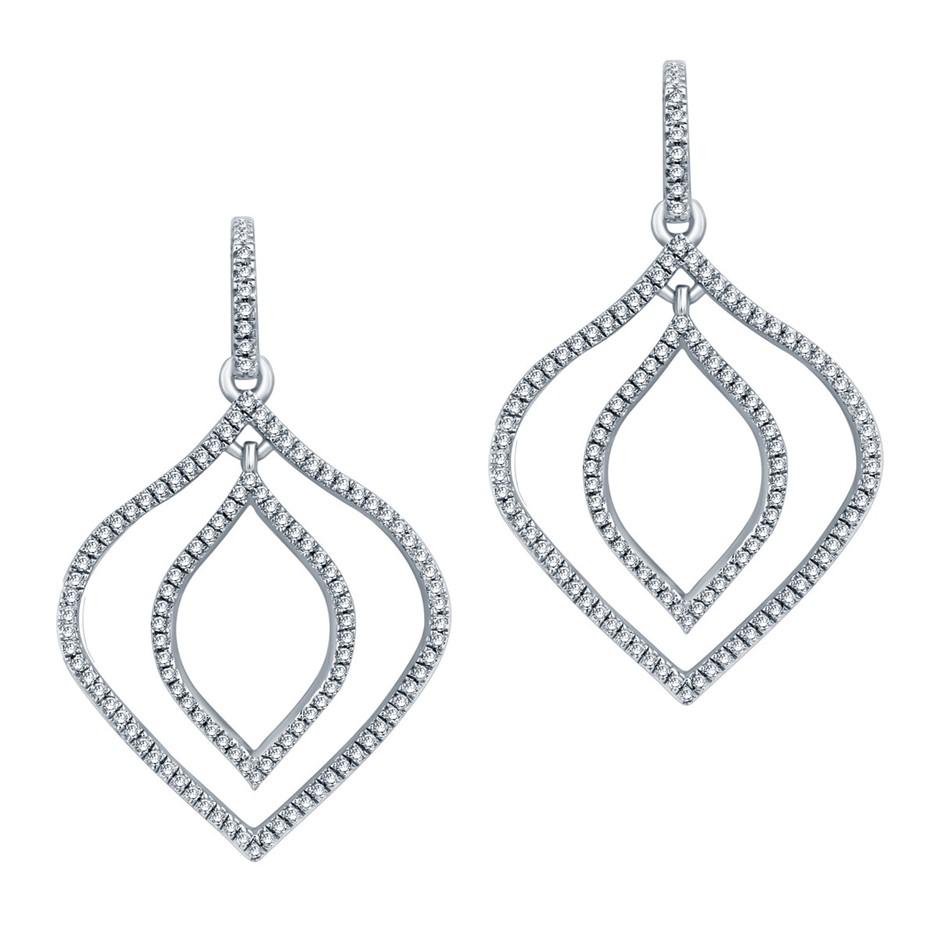 9ct White Gold, 0.34ct Diamond Earring