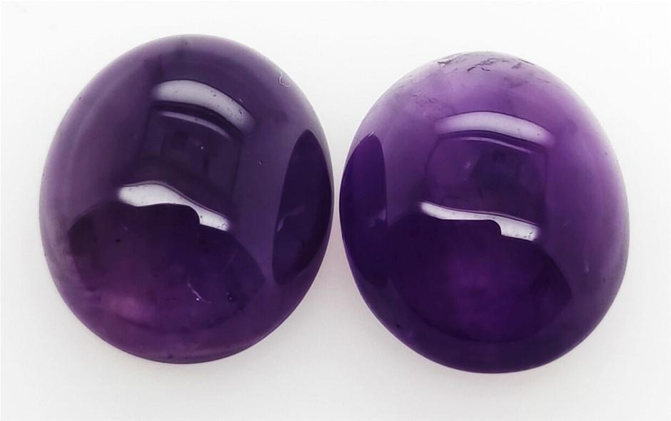 14.93 Carat Pair of Purple Amethyst