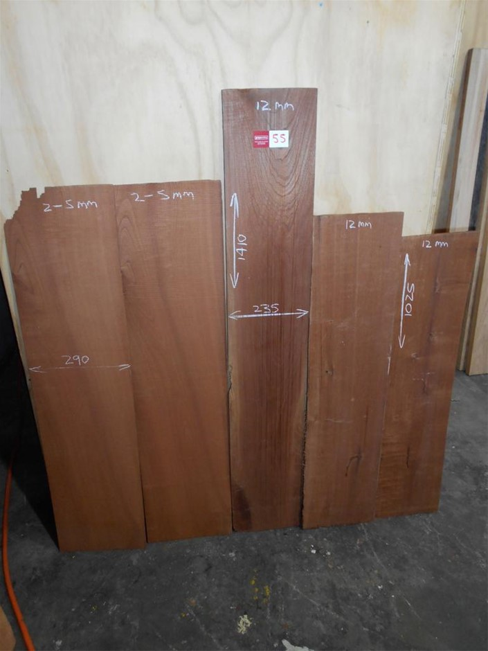 Assorted timber / furniture board pack (5 boards) - Australian Red Cedar. B