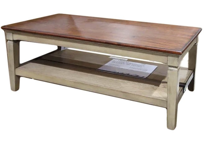 MIKE & MAIN Coffee Table 121 x 61 x 48cm. N.B Dismantled & missing screws,