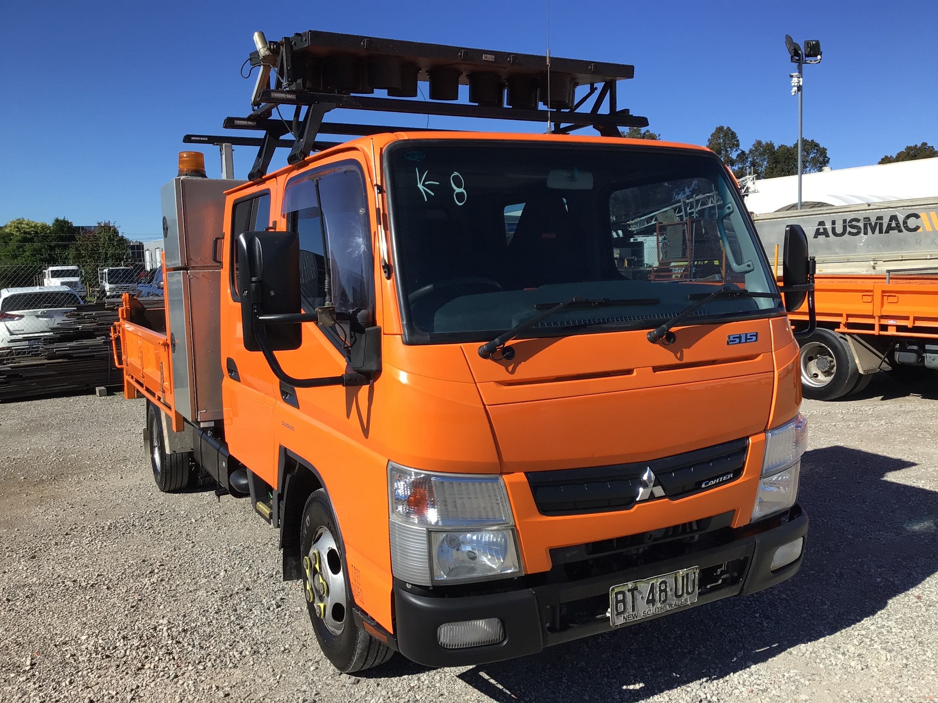 2012 Mitsubishi Canter 515 Dual Cab 4x2 Service Truck with Tipper