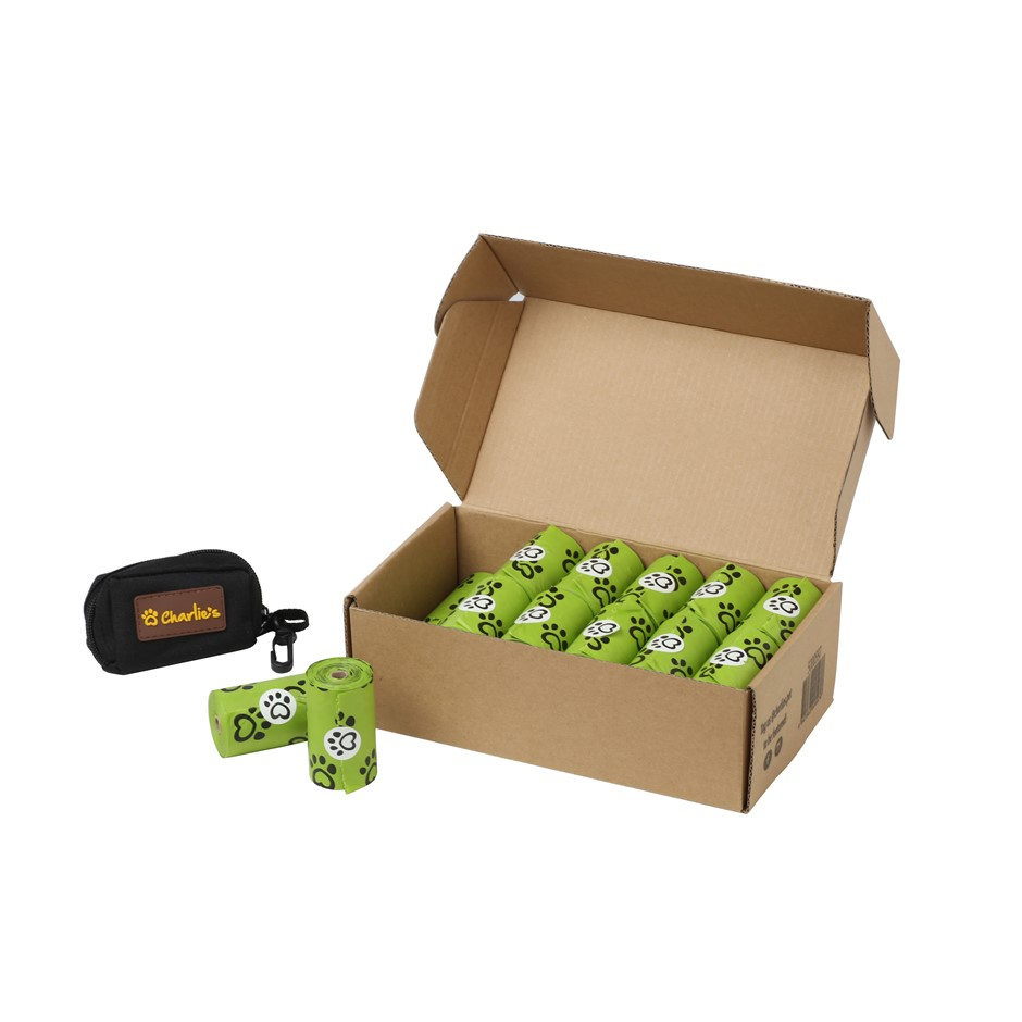 Charlie's Pet Eco-Friendly Biodegradable Doggy Poop Bags & Pouch - 480 Bags