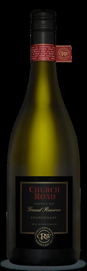 Church Road Grand Reserve Chardonnay 2019 (6 x 750mL). Hawkes Bay. NZ.