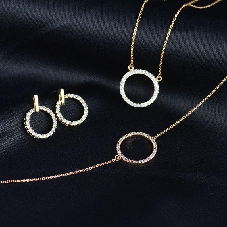 Jewellery Gift Set - Eternity Necklace, Bracelet & Earrings - Yellow