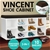 Shoe Rack Cabinet Organiser Brown Cushion - 104 x 30 x 45 - White