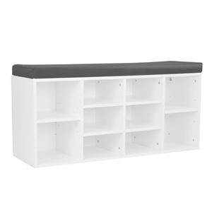 Shoe Rack Cabinet Organiser Grey Cushion