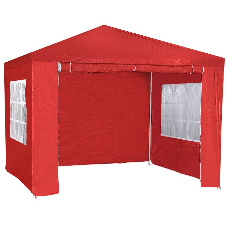 3x3m Wallaroo Outdoor Party Wedding Event Gazebo Tent - Red