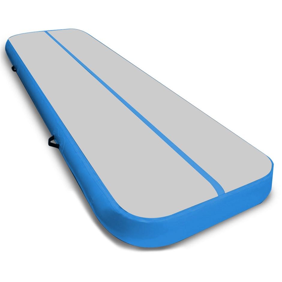 7m x 1m Air Track Inflatable Gymnastics Mat Tumbling - Grey Blue