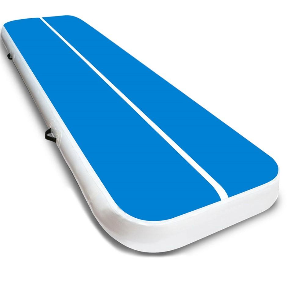 8m x 1m Air Track Inflatable Tumbling Gymnastics Mat - Blue White