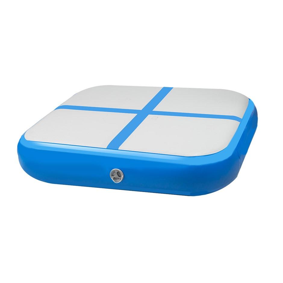 1m Air Block Inflatable Gymnastics Tumbling Mat with Pump - Blue