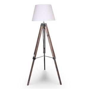Solid Wood Tripod Floor Lamp Adjustable