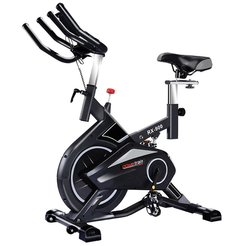 Powertrain RX-900 Exercise Spin Bike Cardio Cycling - Silver