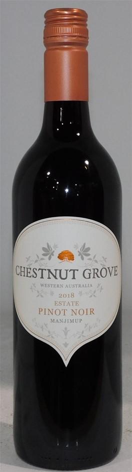 Chestnut Grove Estate Pinot Noir 2018 (6 x 750mL) WA