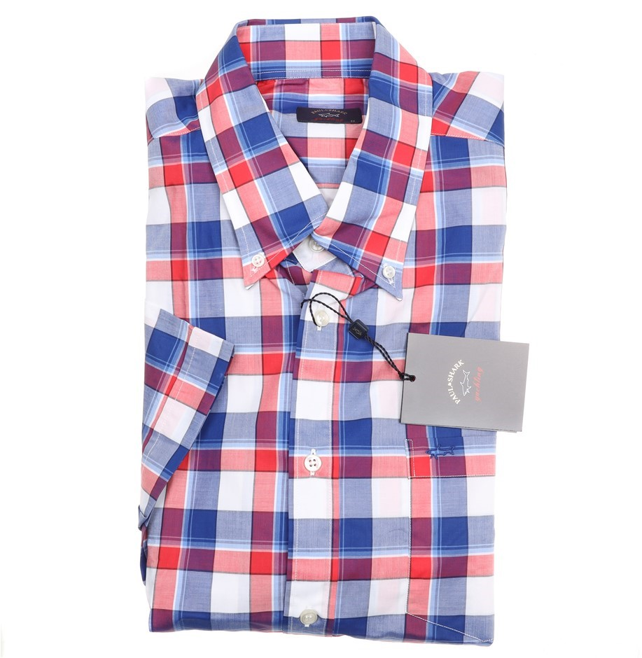 PAUL & SHARK Men`s S/S Shirt, Size 44 EU/ 17 1/2 UK, 100% Cotton, Colour: M