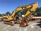 Caterpillar 330C Excavator, Livestock Trailer, Trucks & More