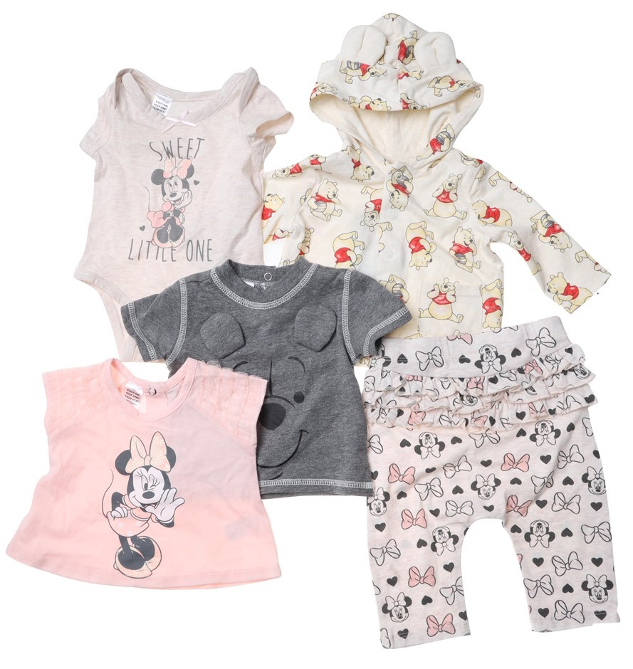 5 x DISNEY Mixed Baby Clothing, Size 3m, Multi. Buyers Note - Discount Frei