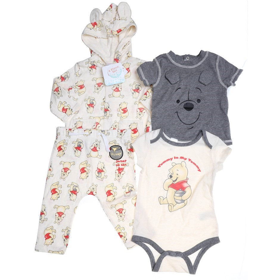 4 x DISNEY Mixed Baby Clothing, Size 3m, Winnie The Pooh. Buyers Note - Dis