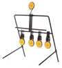 Metal Rotary Shooting Reset Target Frame Size 26cm x 29cm with 5 x Targets