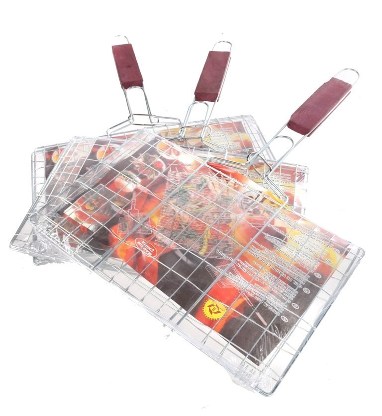 3 x Hand BBQ Grills 30cm x 18cm. Buyers Note - Discount Freight Rates Apply