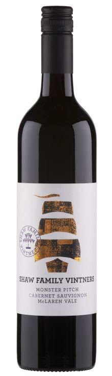 Shaw Family Vintners Monster Pitch Cabernet 2018 (6 x 750mL) McLaren Vale