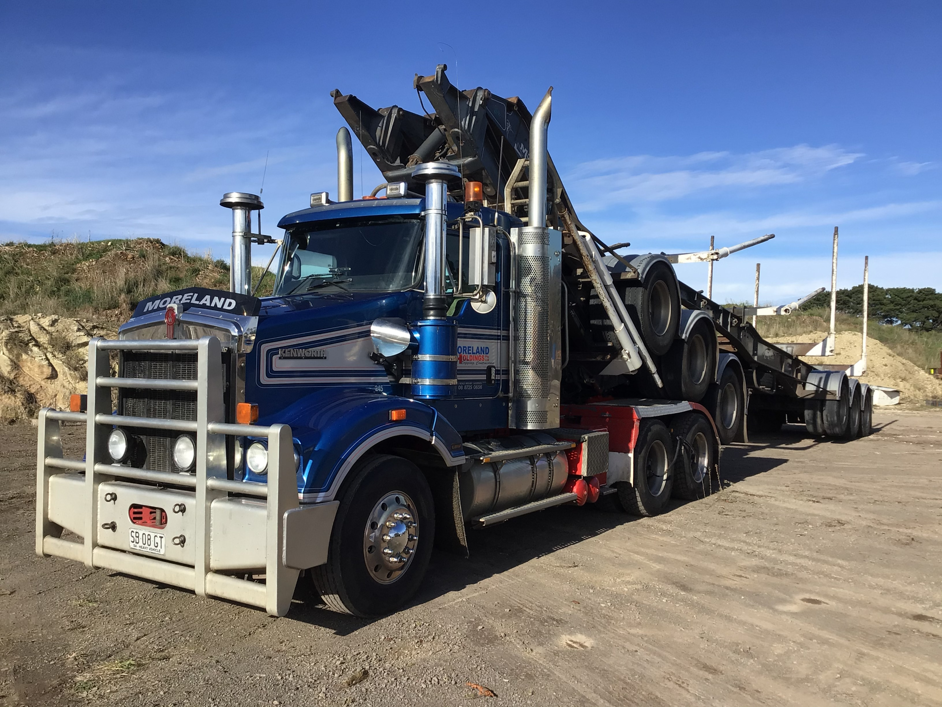 2013 Kenworth T408 SAR 6x4 Prime Mover Truck With A & B Trailers