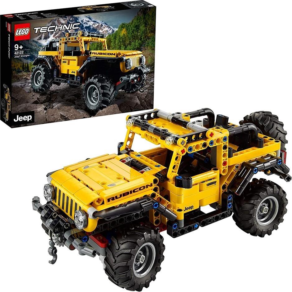 LEGO 42122 Technic Jeep Wrangler 4x4 Toy Car, Off Roader SUV Model Building