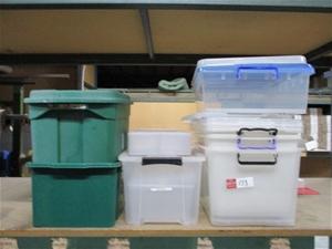 Qty 7 x Approx Plastic Tubs