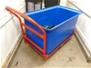 Flat Bed Trolley with Large PVC Waste Bin