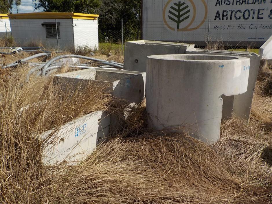 Assorted Precast Concrete Drainage Components