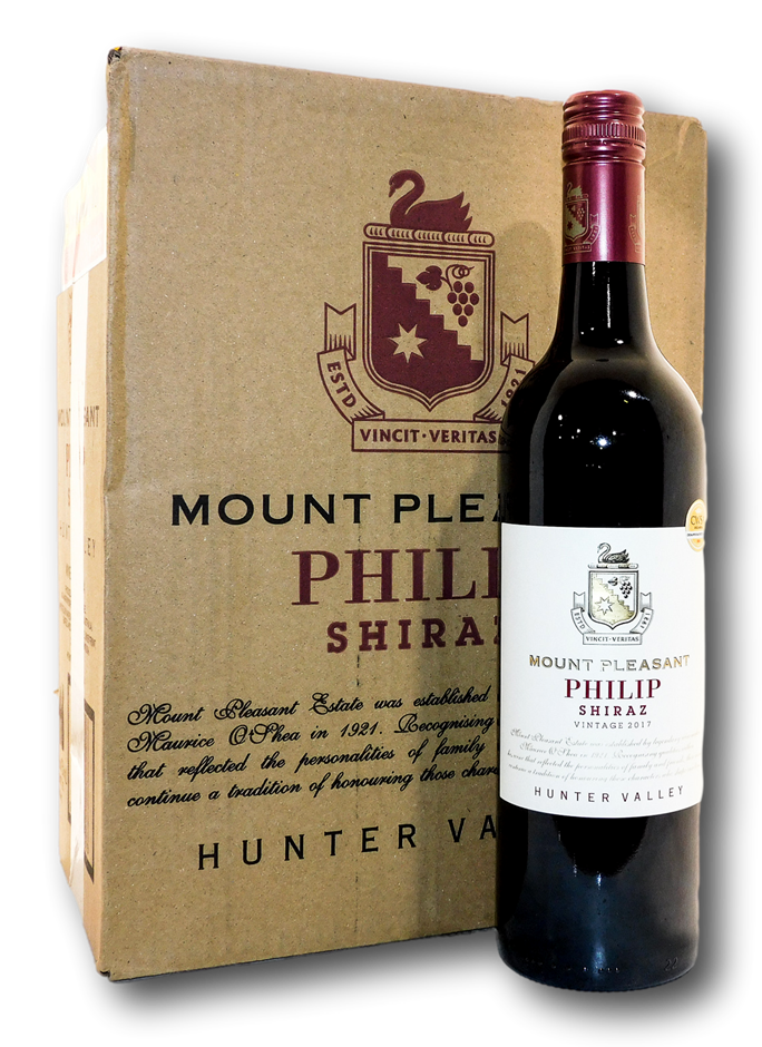 Mount Pleasant Philip Shiraz 2017 (6x 750mL), Hunter Valley