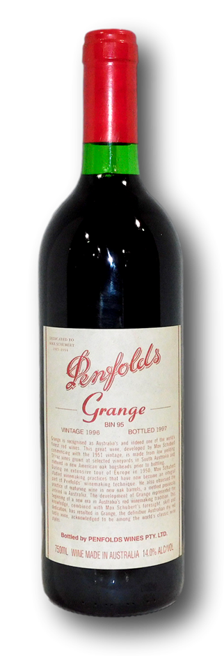 Penfolds Bin 95 Grange 1996 (1x 750mL), SA