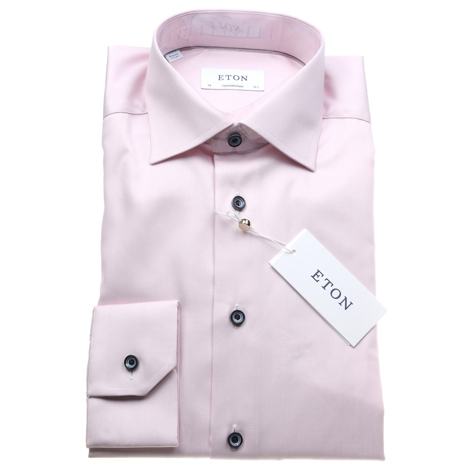 "ETON Men`s L/S Shirt, Size 43, Cotton, Colour: Pink, RRP $275. N.B. ""This i"