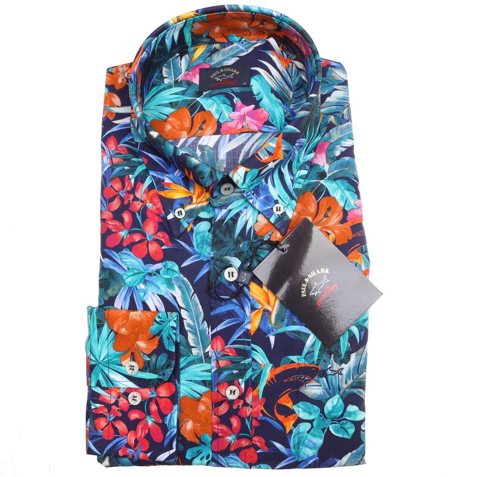PAUL & SHARK Men`s L/S Shirt, Size 40 EU/ 15 3/4 UK, Cotton , RRP $350, Col