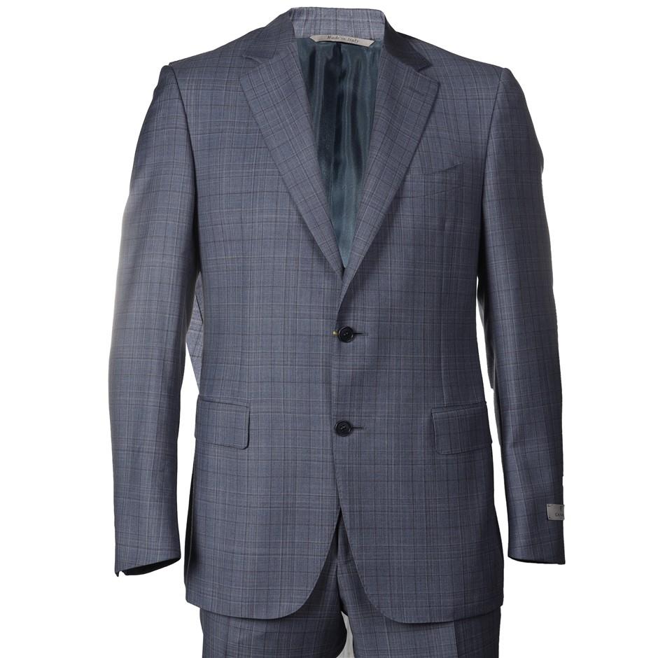 CANALI Men`s Suit, Size 50R EU/ 40 UK, 100% Wool, RRP $2495, Colour: Grey/B