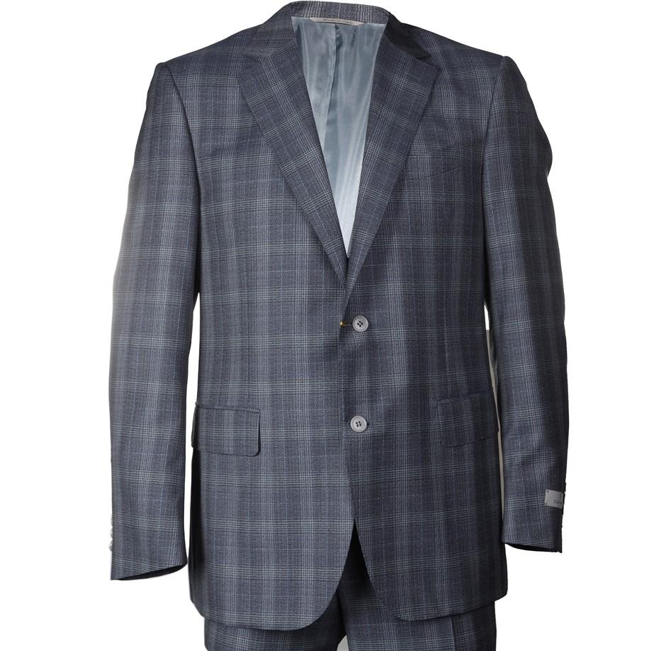 CANALI Men`s Suit, Size 50R, RRP $2695, 100% Wool, Colour: Blue/Grey Patter