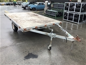 Unreserved Custom Made Single Axle Flat Top Trailer