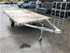 <p>Custom Made Single Axle Flat Top Trailer</p>