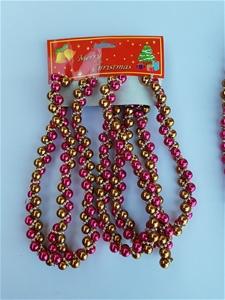 30 X pack of Dark pink & Gold Beaded Gar