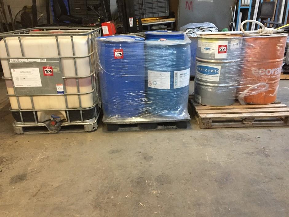 Large quantity of concrete panel manufacturing liquids