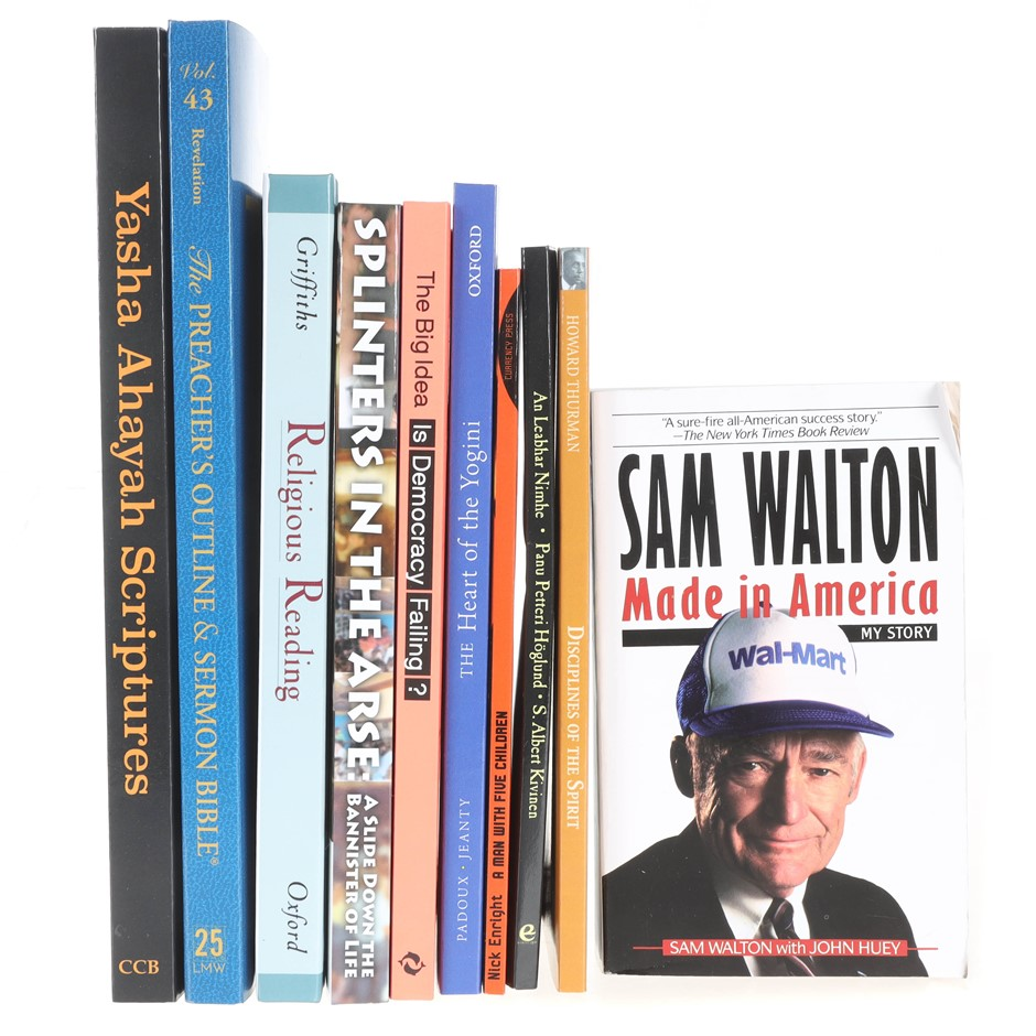 10 x Assorted Books, Comprising: RELIGIOUS READING, MADE IN AMERICA & more.