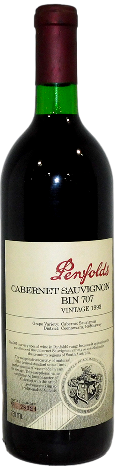 Penfolds Bin 707 Cabernet Sauvignon 1993 (1 x 750mL, #28924)