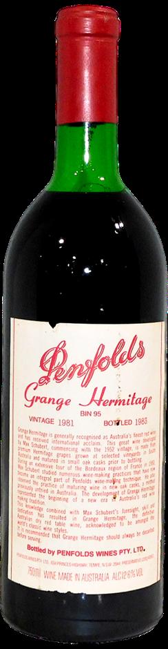 Penfolds Bin 95 Grange Hermitage 1981 (1x 750mL), SA