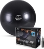 PTP Anti-Burst Core Strength Ball with Pump, 65cm Diameter, Onyx Black. Buy
