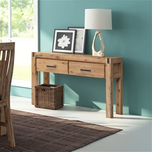 Hall Table 2 Storage Drawers Solid Acaci