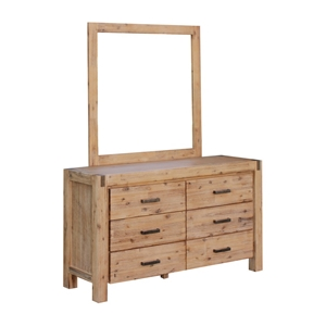Dresser with 6 Storage Drawers in Solid