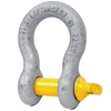 Bow Shackle, WLL 6.5T, Screw Pin Type, Grade S, Yellow Pin. Buyers Note - D